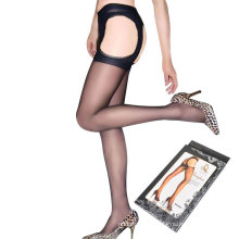 High quality sexy black pantyhose breathable sheer thigh high silk stockings women