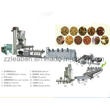Machine complètement automatique d'aliments pour chiens de chat d'animal familier faisant la machine