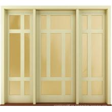 Nuevo diseño exterior de madera maciza prehung puertas estilo contemporáneo