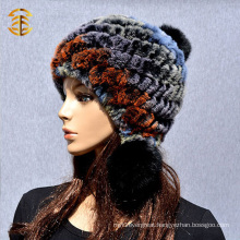 New Korean Female Fashion Warm Winter Women Rabbit Fur Hat