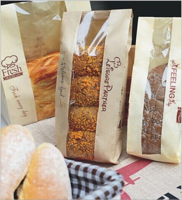 Baguette aper Bag with middle window