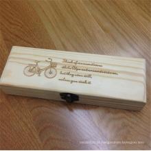 caixa de lápis feita sob encomenda de madeira branded barata
