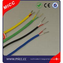 RTD-16/20 / 24AWG-tef / tef / fil de thermocouple standard SSB-ansi / fil de thermocouple ansi