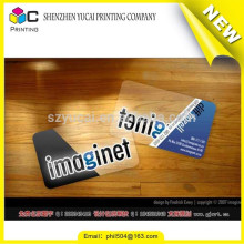 Film lamination clear graphic design business cards