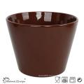13cm Ceramic Bowl Solid Dark Brown Glaze