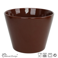 13cm Ceramic Bowl Solid Dark Brown Glaze