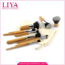 11 gros bambou poignée MDD brosse cosmétiques chaud ensemble de pièces