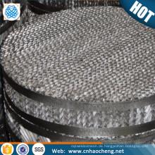 Edelstahl 304l strukturiert / Destillationskolonne Packungsdrahtgeflecht