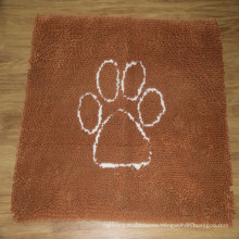 Microfiber chenille non-slip dog rug/ pet rug