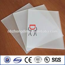 Feuille de papier en polycarbonate pour usage publicitaire publicitaire