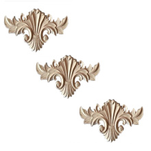 Custom-made wood carving furniture wooden flower model decals