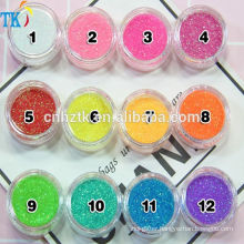 wholesale 12color 3g of Girl's heart rainbow flash glitter powder