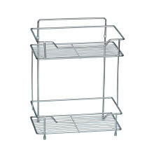 White Bathroom storage Shelf Unit with 2 Tier Shelves