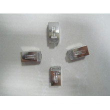 transparent Crystal rj11 rj45 connector plug, 10 pin rj45 connector network low price