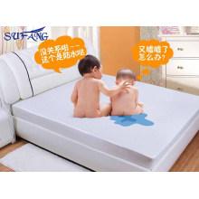 Preço barato hotel Hypoallergenic Algodão Terry Superfície Com Membrana Voltar Respirável protetor de colchão lençol
