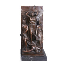 Relief Messing Statue Mythos Carving Deco Bronze Skulptur Tpy-031