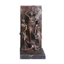 Рельеф Латунь Статуя Миф Резьба Деко Бронзовая Скульптура Т-031