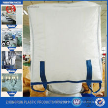 Jumbo big bag 1200kg , fibc bulk bags with top skirt for sand,cement,lime , construction material