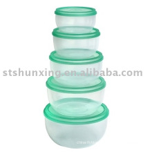 Eco-friendly useful 5 pcs plastic food transport container for sale