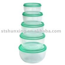 Eco-содружественный полезные 5 шт пластиковый пищевой контейнер для продажи
