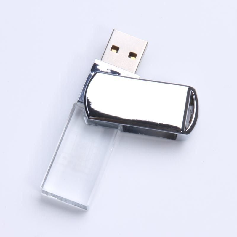 Crystal Swivel Usb Flash Drive