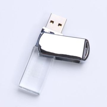 Cristal transparente giratorio Usb Flash Drive