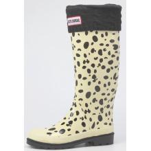 Women Dalmatian Skin Printing Rubber Rain Boots