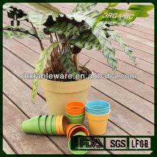 Planta de fibra de bambú en polvo biodegaradle flor olla