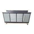 Gabinete de garaje de metal herramienta de 12 cajones de calidad superior con 2 puertas