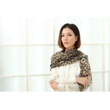 Mode 100% châle imprimé en laine mérinos (13-BR020302-5.1)