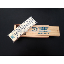 Mini Domino en caja de madera