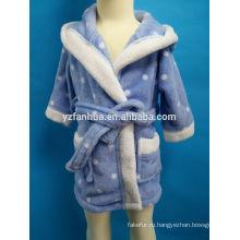 дети Пижамная малышей с капюшоном теплая флисовая Выкройка одеяние