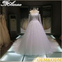 2016 Китай оптовая продажа с плеча фирменное свадебное платье