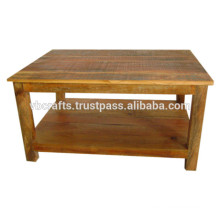 old wood coffee table
