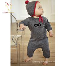 Corte moderno del bebé del mameluco de lana al por mayor