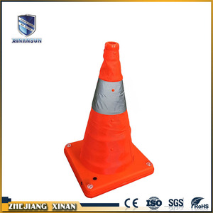 Emergency warning colored  taper traffic road cone