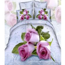 2016 Flower Printed 4PCS Juego de sábanas