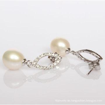 925 silberne Art- und Weisefrischwasserperlen-Ohrringe (ER1424)