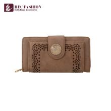 Хек пользовательские мода портмоне клатчи кожаный бумажник женщин
