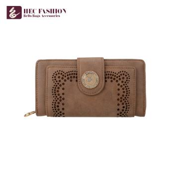 A bolsa feita sob encomenda da moeda da bolsa da forma de HEC ensaca mulheres da carteira do couro