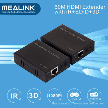 Extendeur HDMI 60m par simple Cat5e / 6 (3D, IR, EDID)