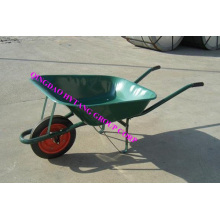 65l wheelbarrow WB6500 with green powder painted tray