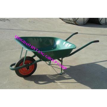 65l wheelbarrow WB6500 with green powder painted tray