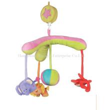 Fábrica de suministros rellenos bebé cama movimiento musical Hang Toy