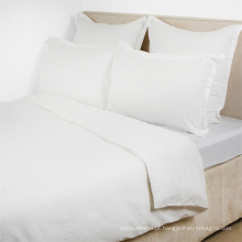 Macio e confortável 100% algodão branco liso doona capa de edredão