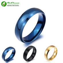 Fashion Ring Jewelry Classic Blue Titanium Steel Ring