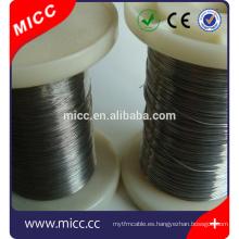 alambre de aleación de calentamiento de resistencia Ni80cr20 / Ni60Cr15