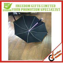 Am meisten begrüßte 8 Platten kundenspezifischer LED-Licht-Regenschirm