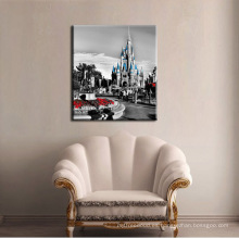 Impresión famosa de la pintura de la lona del edificio para la decoración