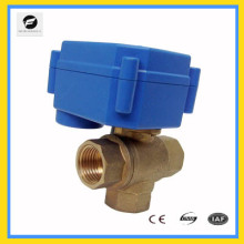 T flow 3 way Electric valve 12V/DC for Leak detection&water shut off system,Water saving system, automatic control valve